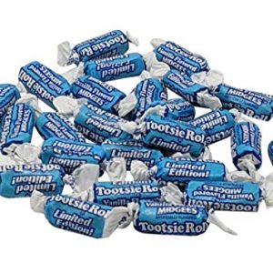 Tootsie Roll Vanilla Flavored Midgees – 3 LB Resealable Stand Up Storage Bag –
