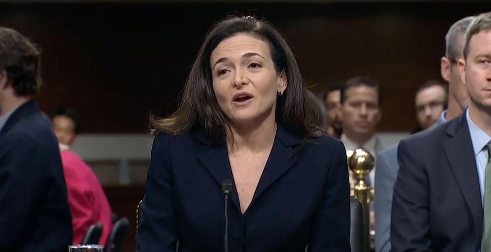 Facebook COO Sheryl Sandberg testifies before a Senate subcommittee